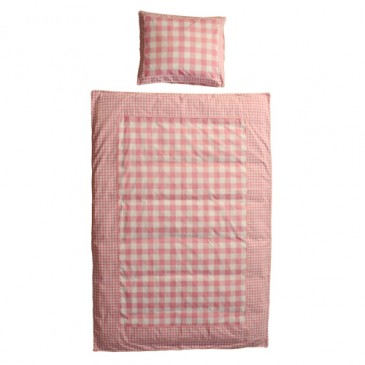 Fabric VICHY PINK DUVET COVER