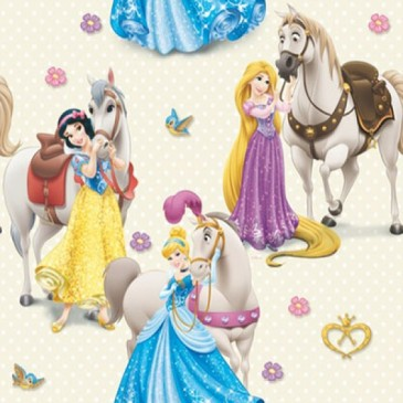 Disney Princess Fabric CAVALOS.11.140