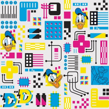 Disney Donald Duck Fabric DOTECH.100.140